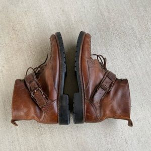 Cole Haan high top leather brown boots size 9.5M